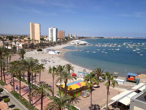 Santiago de la Ribera a typical Spanish seaside resort town near Murcia Airport