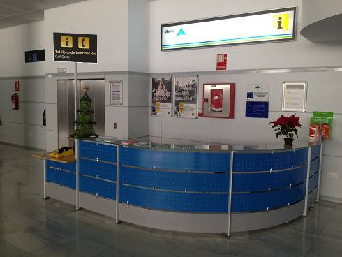 AENA desk at Almeria Airport