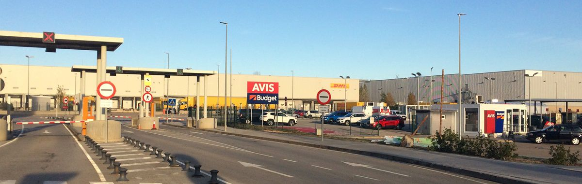 Avis Budget rental car park at Girona Airport