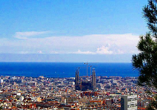Barcelona view from Parc Guell