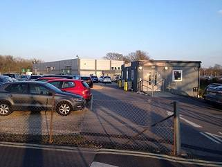 Bournemouth Airport car rental compound