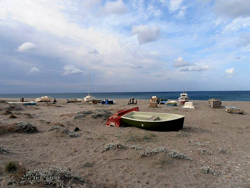 Fishing boats on a Cabo de Gata beach