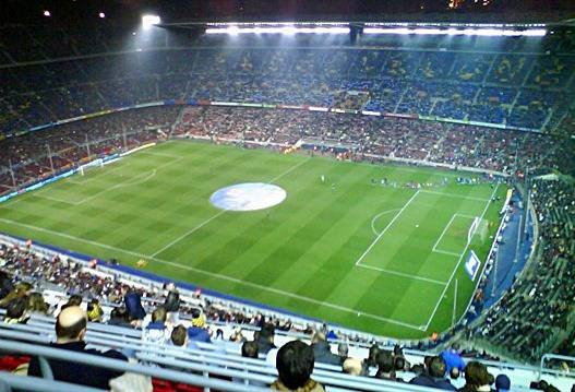 Nou Camp view from the top tier