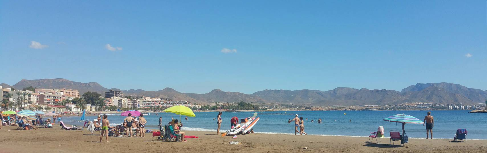 Puerto de Mazarron beach in September
